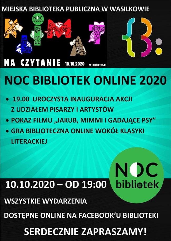 noc bibliotek online 2020 - plakat