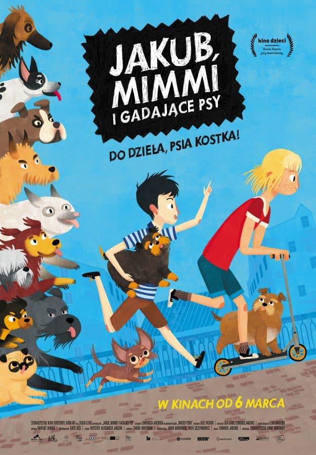 jakub, mimmi i gadające psy - plakat