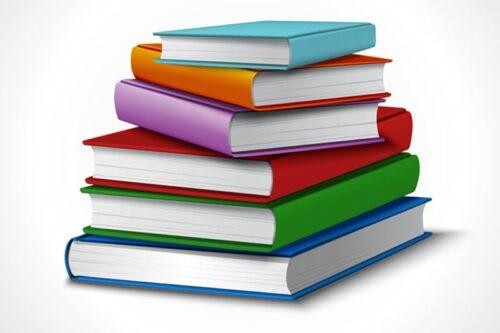 ilustrakcja leżących książek