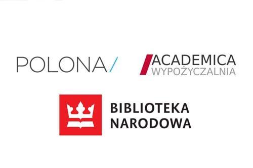 logotypu polony, academica wypożyczalnia i bibliotaka narodowa