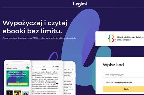 plakat reklamujący platformę legimi - wypożyczaj i czytaj ebooki bez limitu